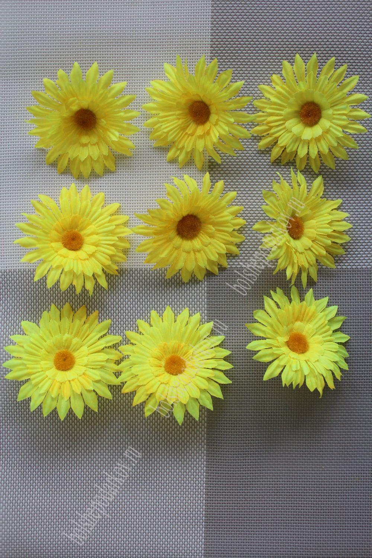 Цветы из ткани ромашки фото